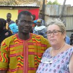Soullimane Doucouré Président de l'Association des Ressortissants de Bidadji et Marie France Aldasoro Présidente d'Afrique Amitié